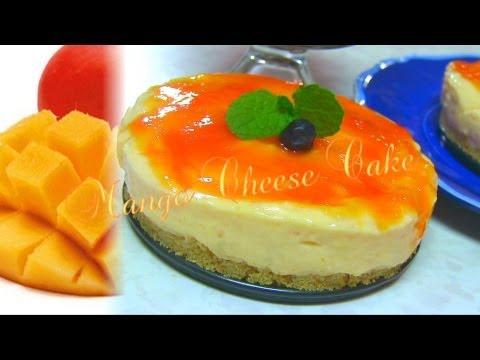 Mango Cheesecake Recipe Video by Bhavna - No bake & Eggless!
