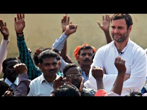 Rahul Gandhi campaigns for Jitendra Singh in Alwar, Rajasthan