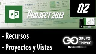 02. Curso De PROJECT 2013 (Pestaña Recursos, Proyectos Y