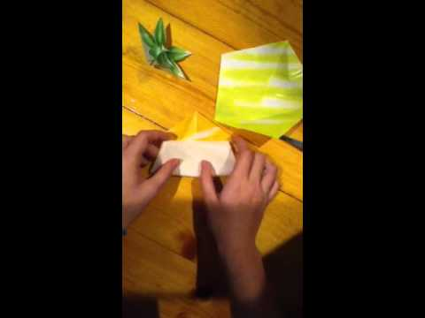 "Origami Carambola ""star flower"" flower tutorial ENGLISH"