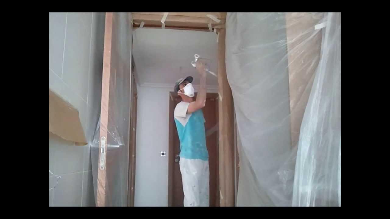 Como pintar techos a pistola airless pinturas urbano - Pistola pintar paredes ...