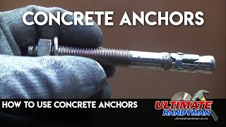 How to use Concrete anchors