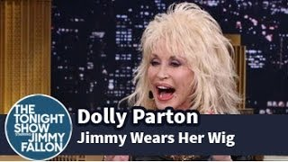 Dolly Parton Puts One of Her Signature Wigs on Jimmy Fallon