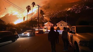 CALIFORNIA FIRE SCARY FOOTAGE, DAMAGE, CAUGHT ON CAMERA DECEMBER 2017