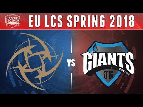 NiP vs GIA, Game 2 - EU LCS 2018 Spring Promotion  - Ninjas in Pyjamas vs Giants G2
