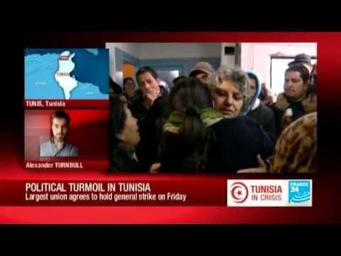 Political turmoil in Tunisia: Largest union agrees to hold general strikes on Friday