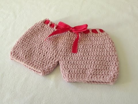 How to crochet EASY baby bloomers / shorts