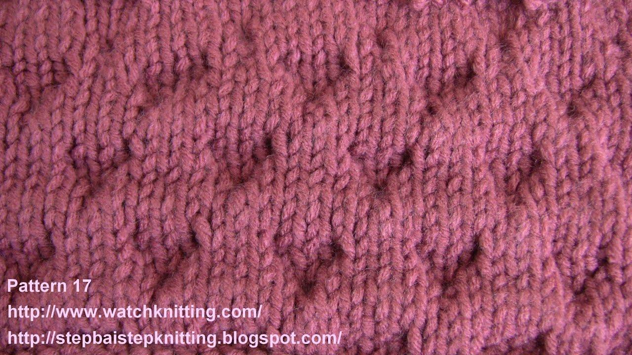 Knitting Stitches Advanced : (Rhomboid) - Embossed Knitting Patterns - Free Knitting Tutorials - Watch Kni...