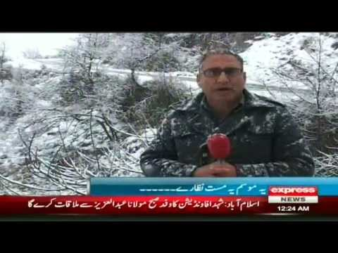 Snow falling with tourist in Swat valley by sherin zada