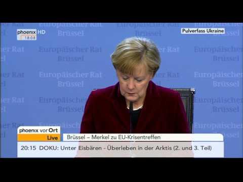 EU-Sondergipfel - PK mit Angela Merkel zur Ukraine am 06.03.2014