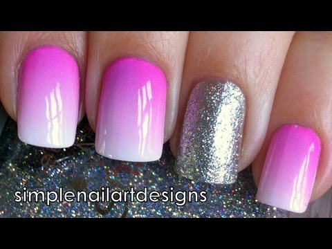 Ombre Nail Art Tutorial Using Acrylic Paint