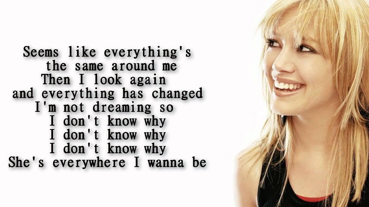 Hilary Duff - Who's that girl lyrics - YouTube Hilary Duff Lyrics
