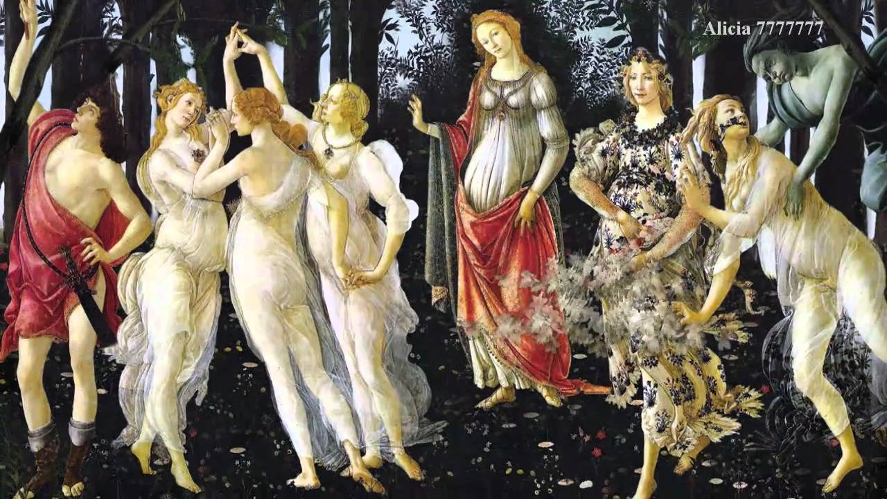sandro botticelli primavera This famous painting, primavera, 1478 by italian artist sandro botticelli celebrates the lush growth of spring central to the mural is venus, draped in red, with her son cupid flying over.