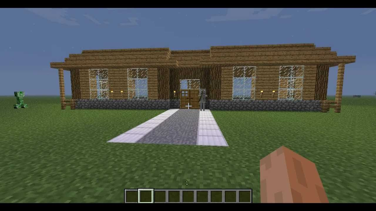 minecraft tutoriel comment construire une grande maison. Black Bedroom Furniture Sets. Home Design Ideas