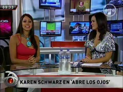 Karen Schwarz Espinoza en breve participación en el programa Abre los Ojos