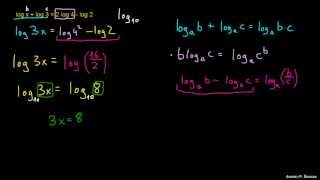 Reševanje logaritemskih enačb 1