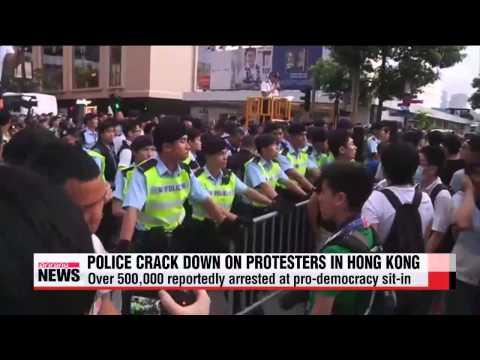 Police arrest hundreds in Hong Kong democracy protest