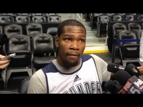Thunder YouTube: Durant ATL shootaround (12/12/13)