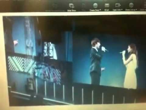 [Kyuhyun FANCAM] 110904 Kyuhyun & Seohyun - Way Back Into Love LIVE @ SMTown in Tokyo