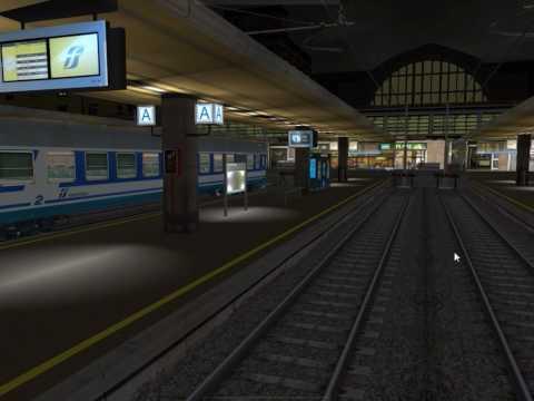 Tratta Torino Genova per RailWorks Traffico serale in Torino Porta Nuova - Italian Route