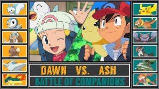Ash vs. Dawn (Pokémon Sun/Moon) - Sinnoh Companion Battle