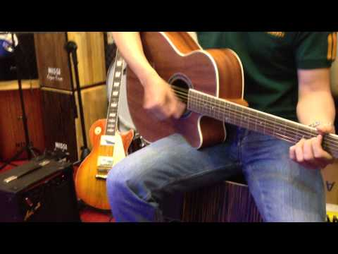 Nissi Cajon Drum - Test Yamaha Guitar Fx 100