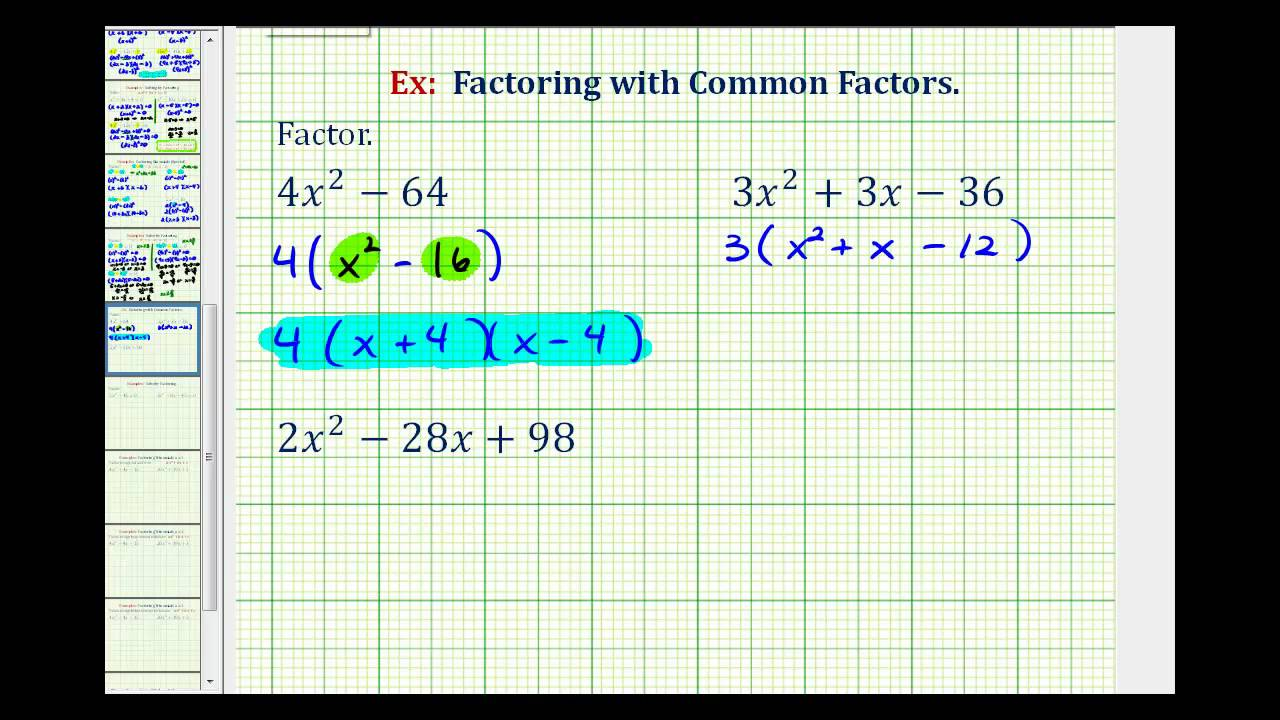 Greatest common factor and factoring by grouping worksheet