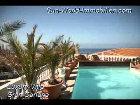 luxus villa auf gran canaria zu verkaufen gran canaria immobilien youtube. Black Bedroom Furniture Sets. Home Design Ideas