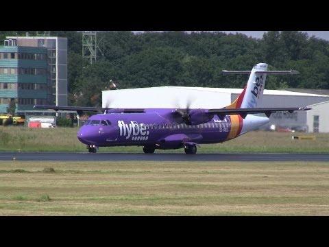Flybe ► ATR-72 ► Takeoff ✈ Groningen Airport Eelde