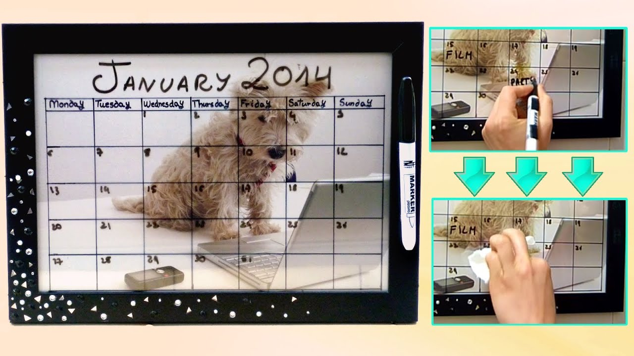 Diy Google Calendar : Diy back to school dry erase calendar easy customizable