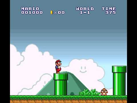 Super Mario All-Stars - Super Mario All-Stars Super Mario Bros world 1-1 (SNES) - User video