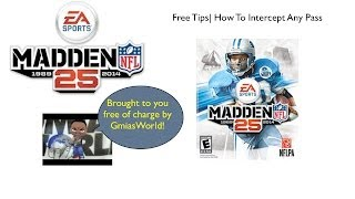 Madden 25 Gameplay (PS3/ XBOX 360) How To Intercept Any
