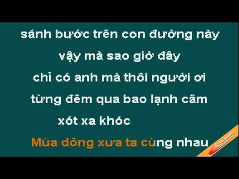 Mua Dong Mo Coi Karaoke - Thai Phong Vu - CaoCuongPro