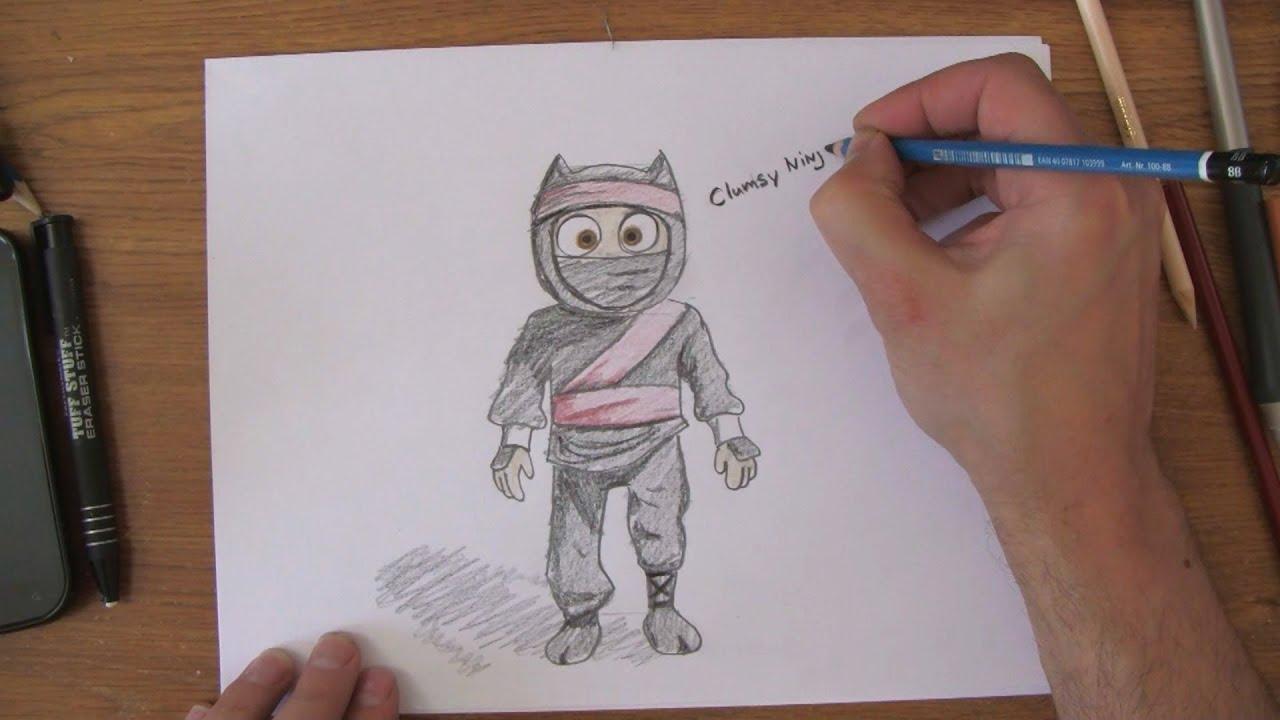 How To Draw Clumsy Ninja. Game Walkthrough - gamerun.org