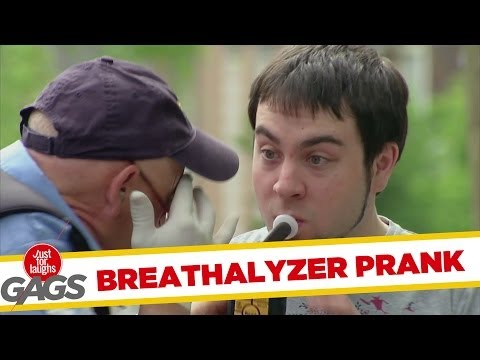 Police Officer Forces Drivers To Blow On Breathalyzer Prank