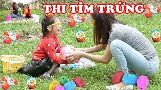 THI NHẶT VÀ BÓC TRỨNG KHỦNG LONG 🤣 Trứng kinder joy, trứng may mắn, trứng pikachu ♥ Dâu Tây Channel