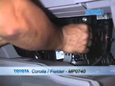 Filtro de ar condicionado corolla 2004