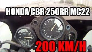 HONDA CBR 250 TOP SPEED 200 Km/h (onboard)