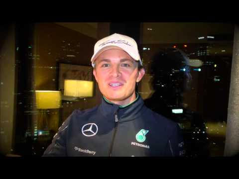 Nico Rosberg message after winning the Australian GP 2014