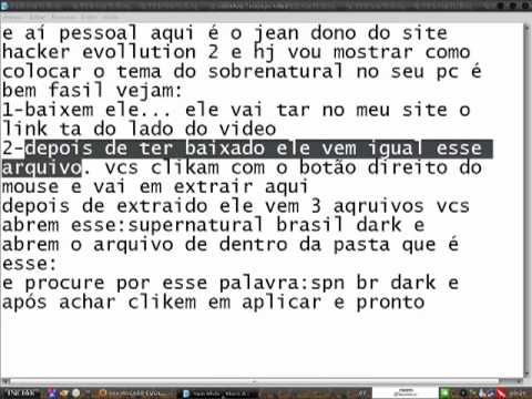 como colocar o tema sobrenatural no xp