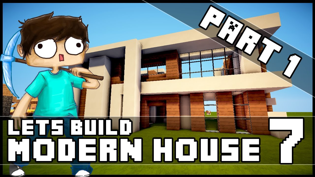 Minecraft lets build modern house 7 part 1 youtube for Keralis modern house 9 part 1
