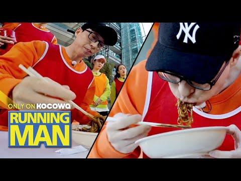 Can Jae Seok Eat Jjajangmyeon in 23 Seconds? [Running Man Ep 485]