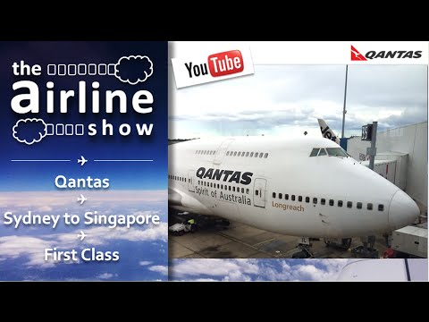 Qantas Airways - Sydney - Singapore - Boeing 747-400 - Business Class (legacy first class seat)