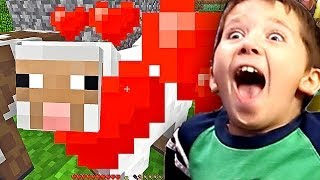 8 Year Old Jacob Playing Minecraft HOW TO HERD AND BREED