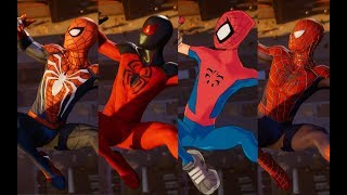 Peter Crafts the Advanced Suit Cutscene (With Every Suit + All DLC Suits)