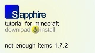 NOT ENOUGH ITEMS 1.7.2 Minecraft How To Download And
