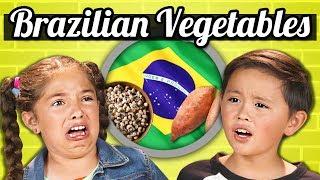 KIDS EAT BRAZILIAN VEGETABLES! | Kids Vs. Food