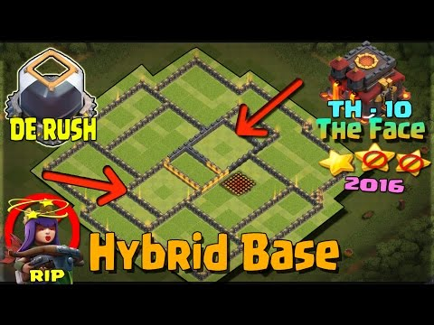 Clash of Clans - NEW TH10 Hybrid Base w/ NEW BOMB TOWER - Town Hall 10 Farming Base 2016- Tested!