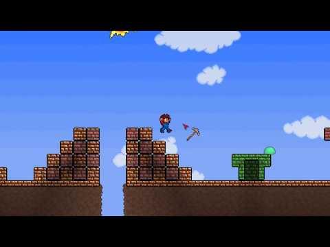 Super Mario Bros. уровень 1-1 в мире Terraria