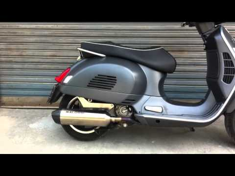 malossi exhaust vespa gts300ss youtube. Black Bedroom Furniture Sets. Home Design Ideas